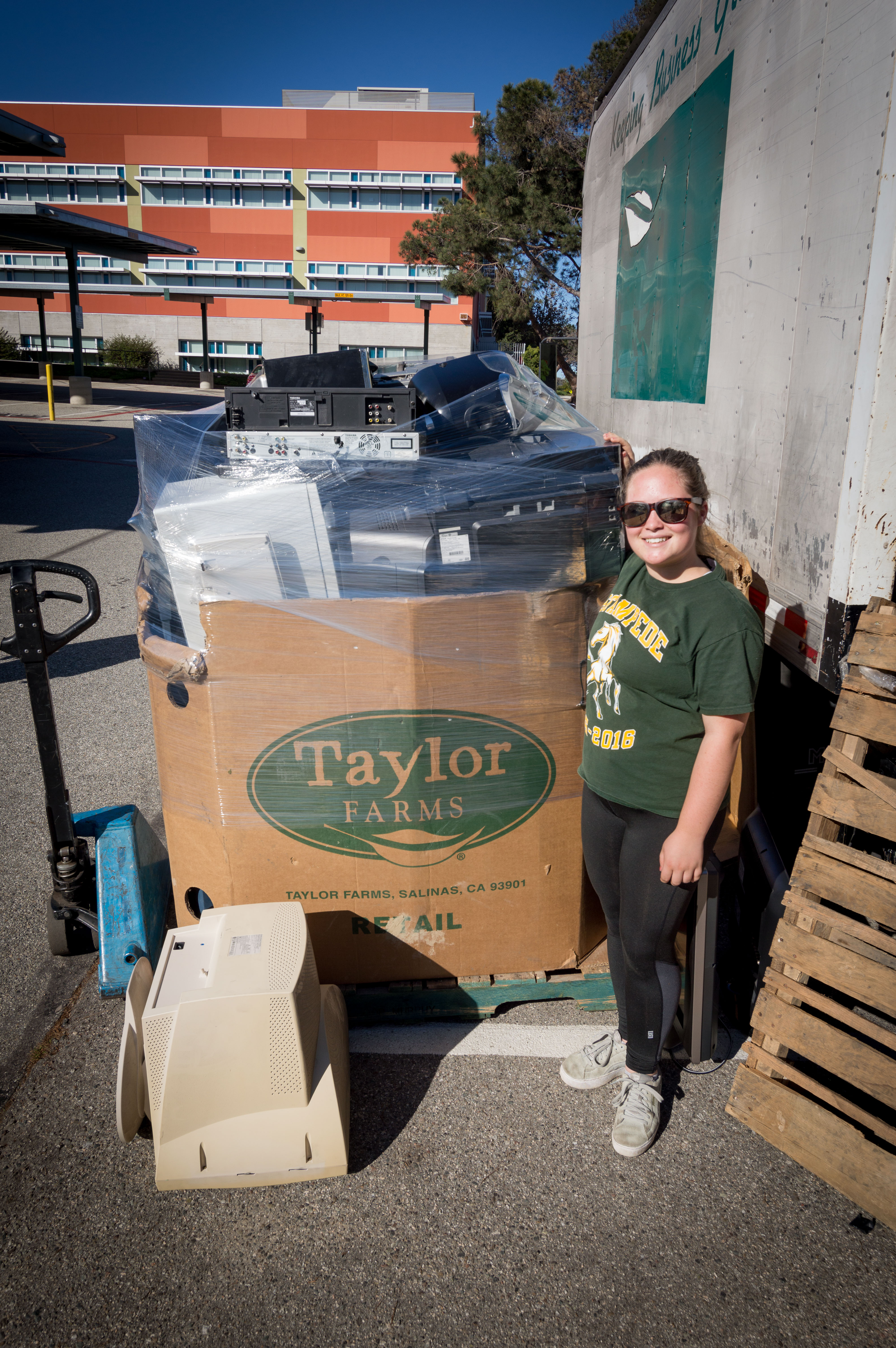 Youth Corps student collects over 3,000 pounds of E-Waste