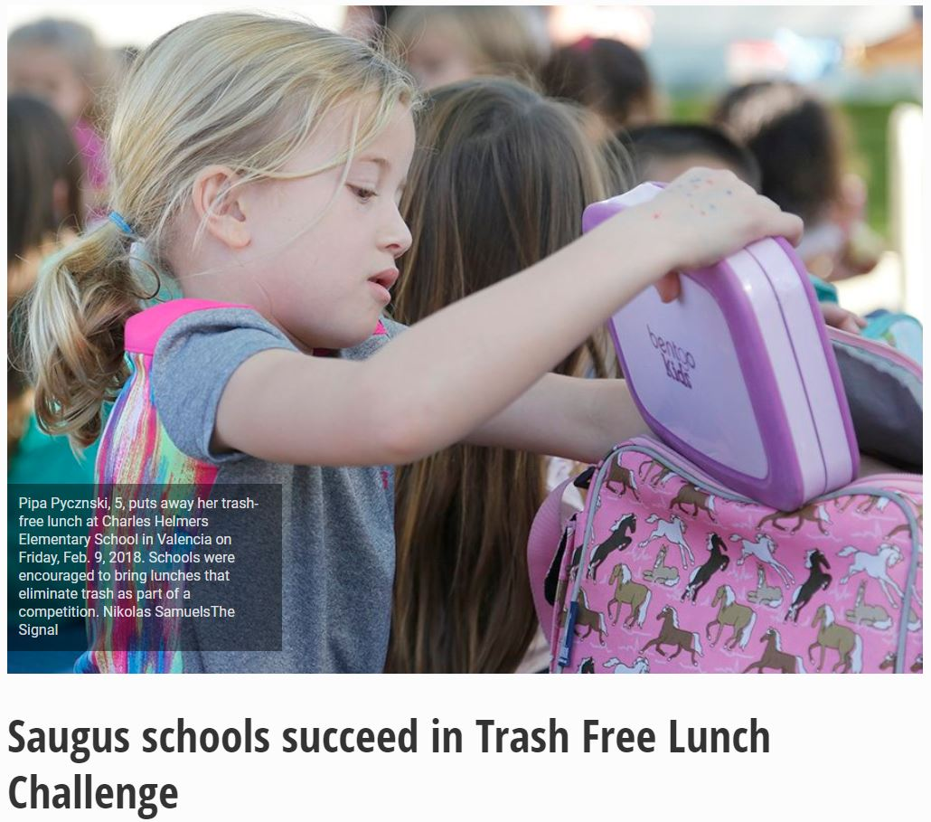 Congratulations to our 2017-2018 Trash Free Lunch Challenge Schools