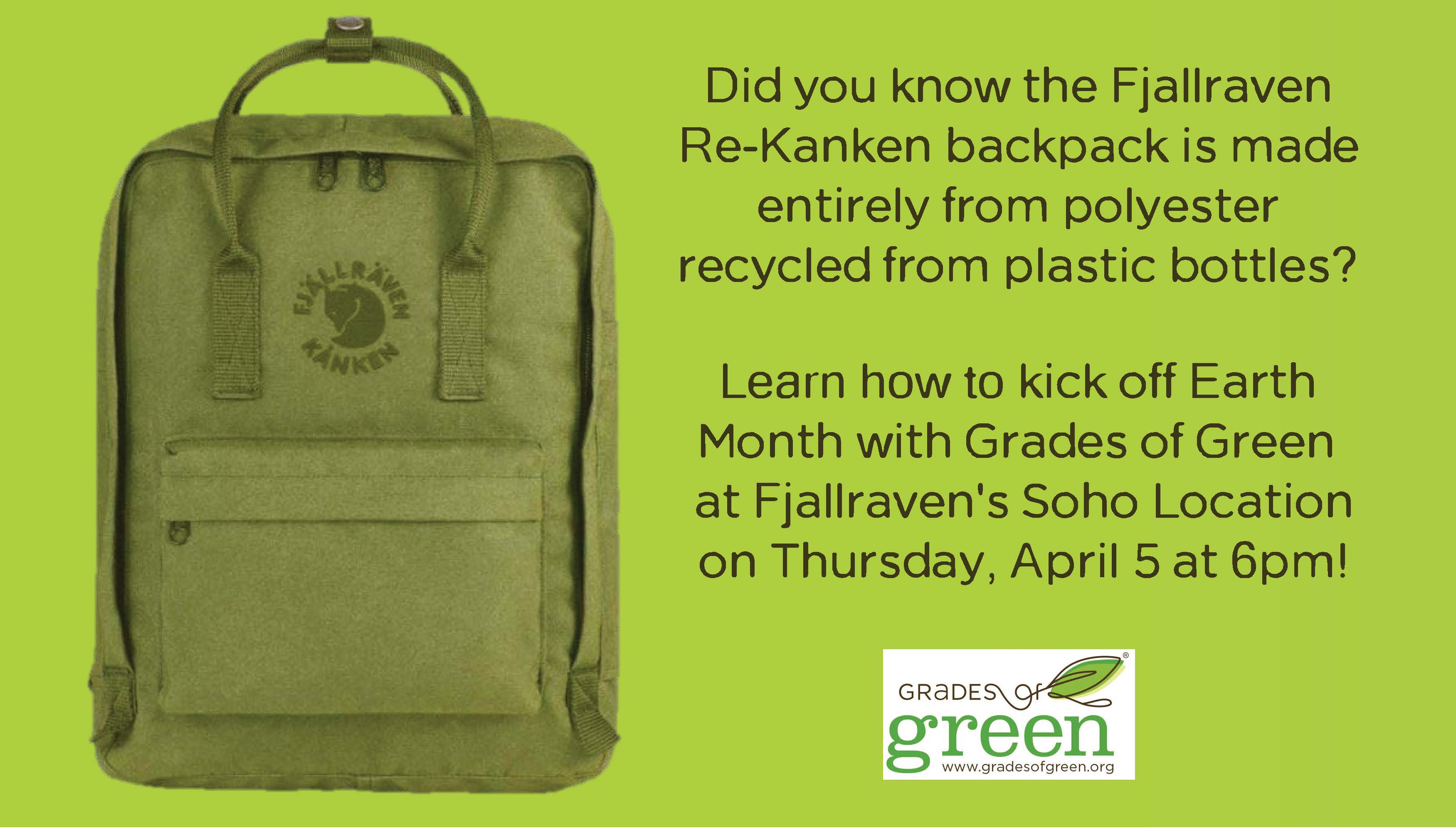 Grades of Green Kicks Off Earth Month with Fjallraven