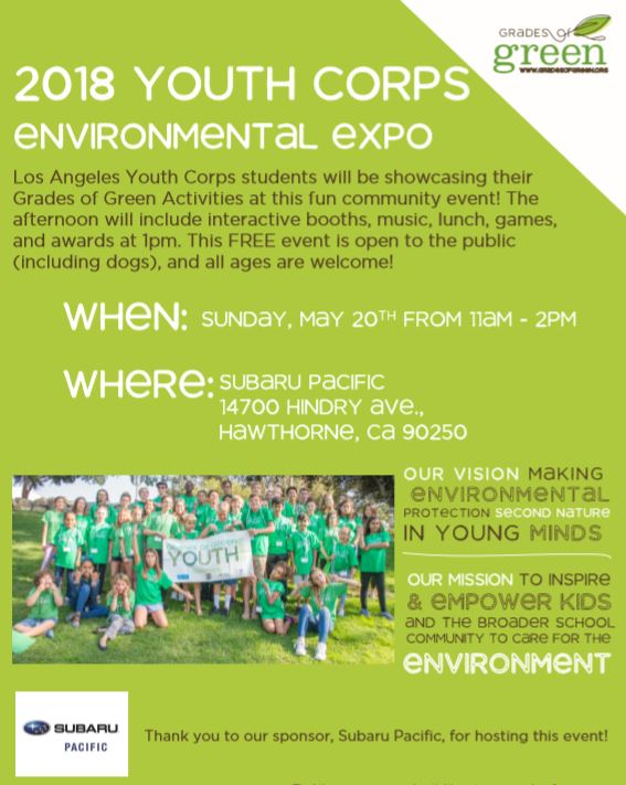 Mark your calendars for the Los Angeles Youth Eco-Leadership Environmental Expo!