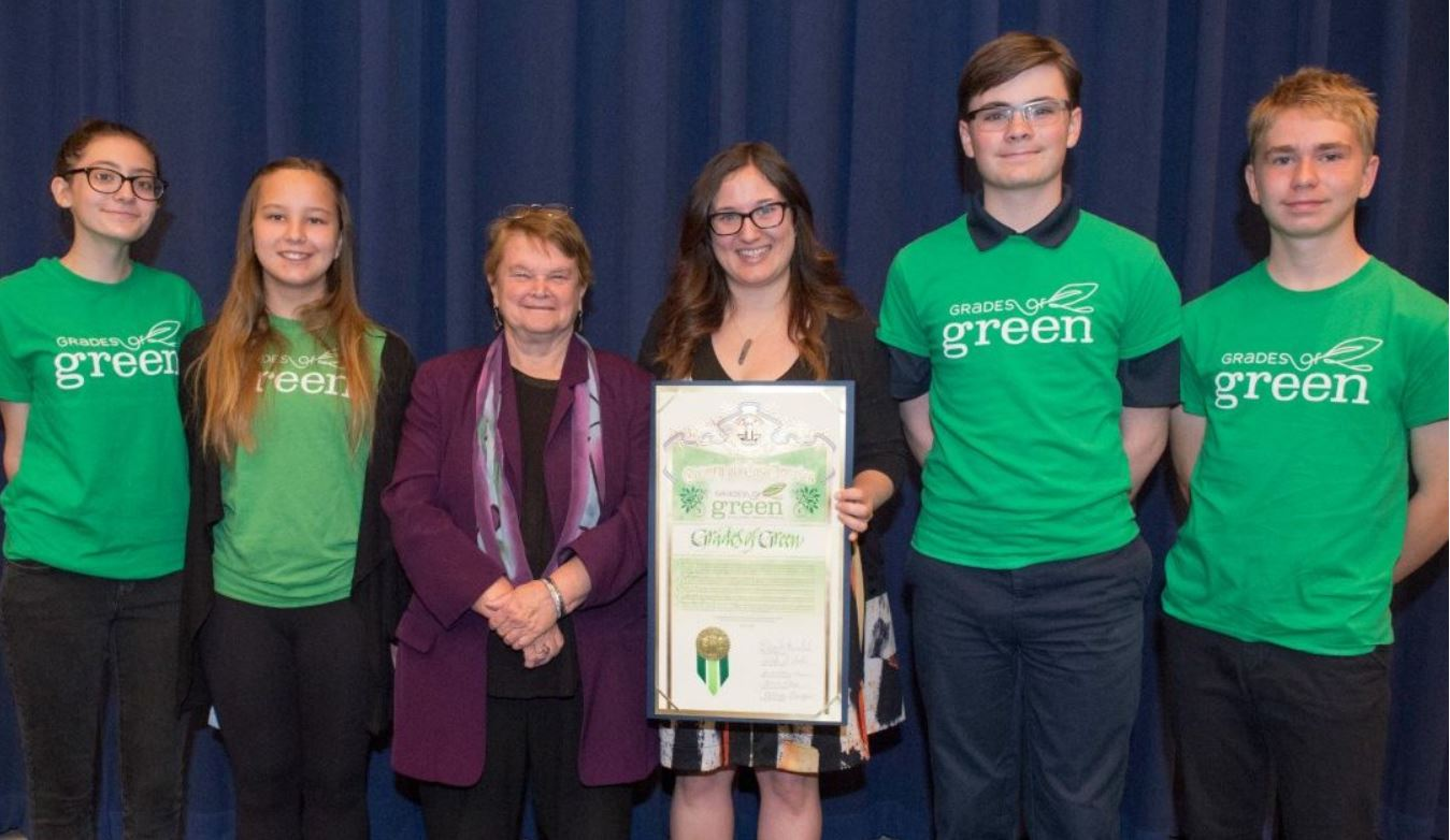 Grades of Green Eco-Leaders Recognized by Supervisor Sheila Kuehl