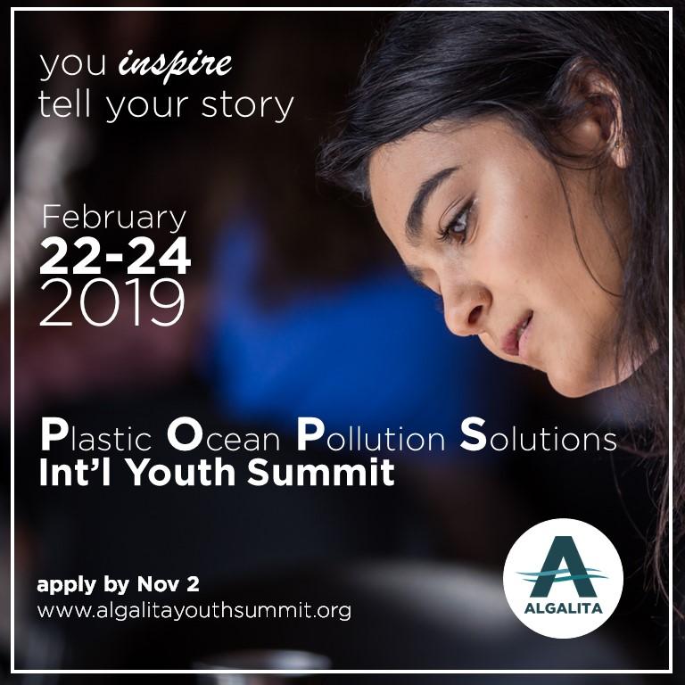 Join Algalita's POPS International Youth Summit
